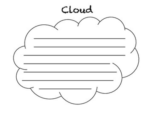 thinking cloud writing template cloud concrete poem template by in the first place