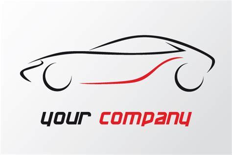 500 Black Sports Car Outline Logo Design Free Vector