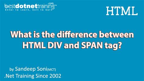 Html Span Div - html tutorial difference between div and span tag