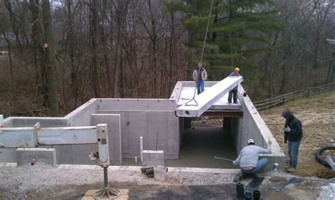 Installing flexicore panels for a new suspended concrete
