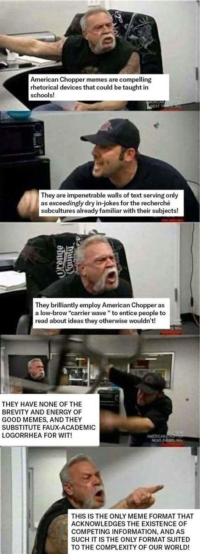 American Chopper Meme Template American Chopper Argument Your Meme