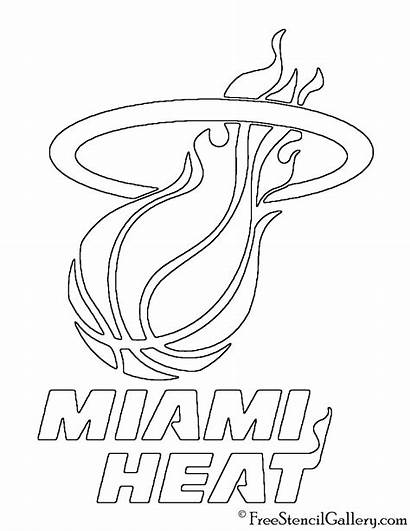 Heat Nba Miami Stencil Drawing Drawings Getdrawings