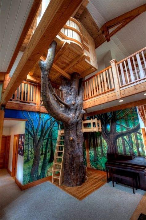 indoor tree house  cool ideas  kids interior