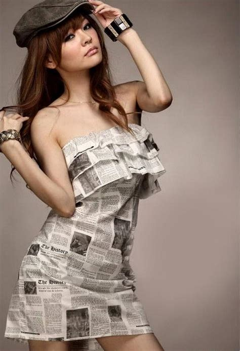 creative newspaper craft fashion ideas