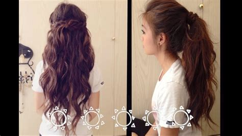 school fast  easy hairstyles youtube