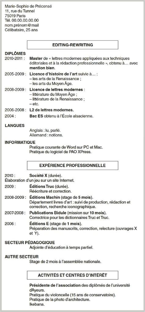 Lettre De Cv by Lettre De Motivation Exemple Etudiant Modele De Cv