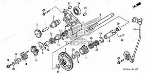 Honda Motorcycle 2008 Oem Parts Diagram For Reverse Gear