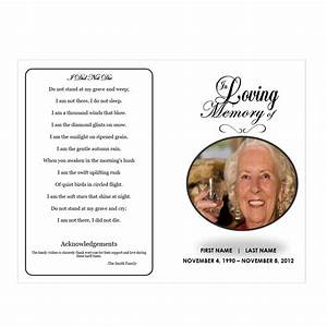 In loving memory funeral pamphlets for In loving memory template free