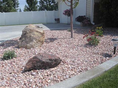 landscape rocks lilac landscape wolverine rock and mulch