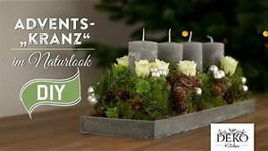 Adventskranz Selbst Basteln : weihnachtsdeko basteln adventskranz im naturlook how to deko kitchen youtube ~ Orissabook.com Haus und Dekorationen