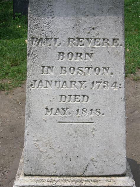 paul revere s grave granary burying ground freedom