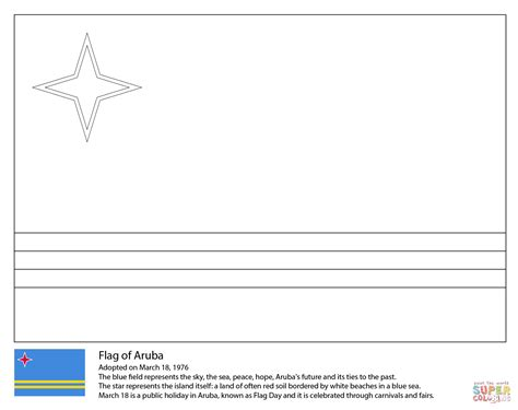 Flag Of Aruba Coloring Page Free Printable Coloring Pages