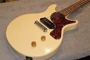 Gibson Style Les Paul Jr Double Cut Vintage White