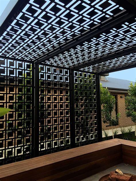 decorative privacy screen pergola  qaqs babylon