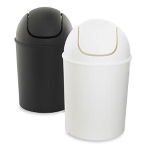 small bathroom trash can with swing lid mini can by umbra