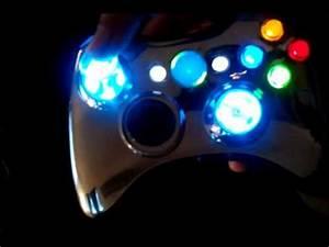 XCM Chrome Blue Light Up Modded Xbox 360 Controller YouTube