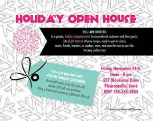 Mary Kay Holiday Open House Invitation