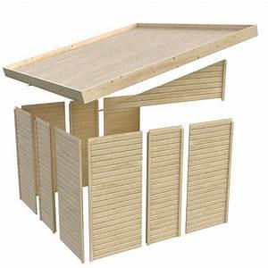 remise adossee en bois certifie 328m2 wandlitz 2 karibu With remise en bois pour jardin