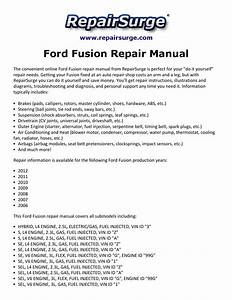 Ford Fusion Repair Manual 2006 2012 By Macy Thomas168