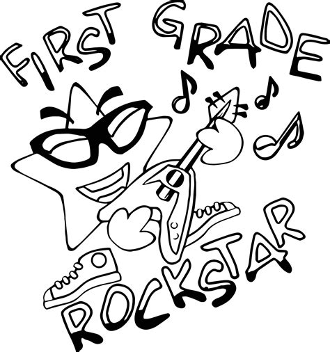 1st grade coloring pages grade rock coloring page wecoloringpage