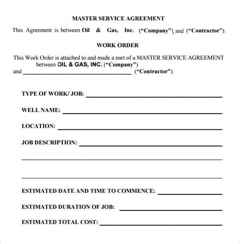 master service agreement template master service agreement 10 free documents in pdf word