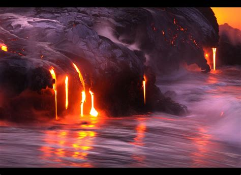 lava meets water in extreme pictures from hawaii dj