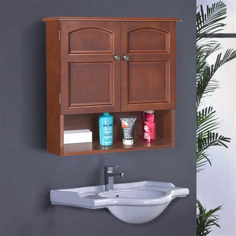 Mahogany Bathroom Wall Cabinet by Home Fashions Martha 22 25 In W X 25 In H X 8 In D