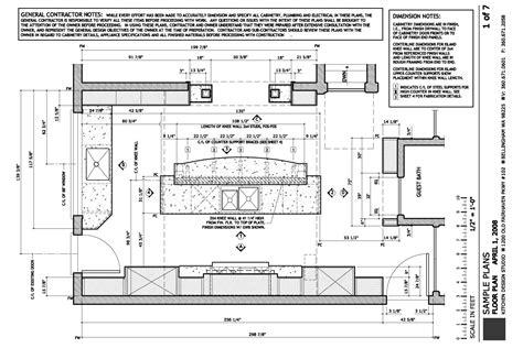 kitchen island construction plans electrical specs island details mechanical plan lighting 5027