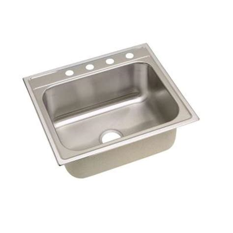 home depot deep sink elkay signature top mount stainless steel 25 in 4 hole