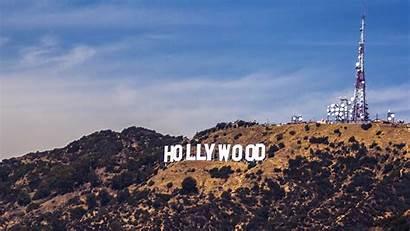 Hollywood Sign Mountain Sky America Desktop Laptop