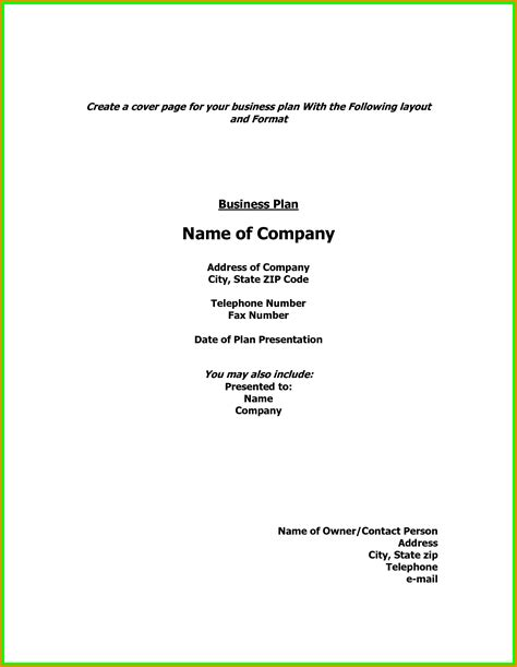 Cover Letter For Business Plan by Letter Cover Page 18 Plan Exles Business