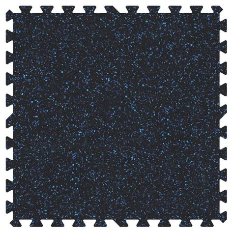 recycled rubber flooring home depot groovy mats blue speck 24 in x 24 in rubber comfortable