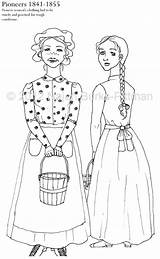 Coloring Pages Pioneers History Dressing Pioneer Colouring Through Adult Books Etsy Children Printable Outline Printables Sketch Drawings Template Lds Similar sketch template