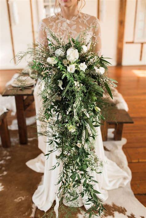 cascading wedding bouquets ideas  pinterest