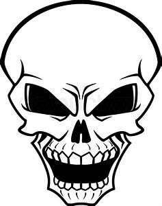 Danger skull as a warning or evil concept | Stock Vector ...