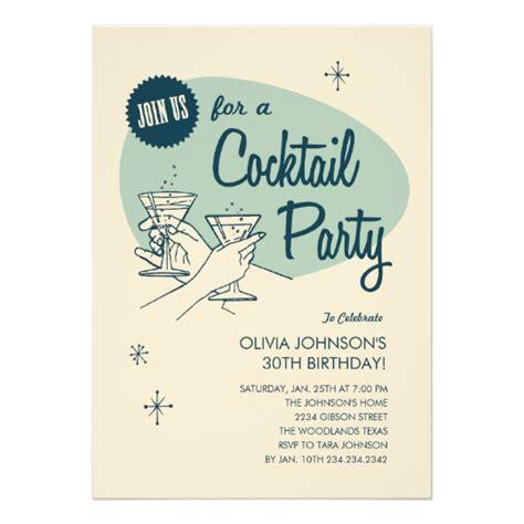 Retro Cocktail Party Invitations Zazzlecom