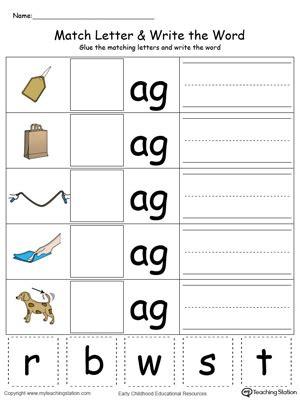 kindergarten worksheets three letter words phonics