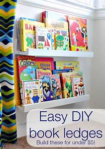 DIY book shelf ledges - Easy, inexpensive and AWESOME