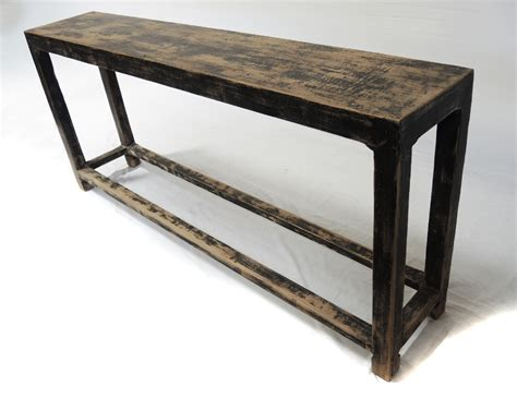distressed black console table sofa table design slim sofa table amazing console design