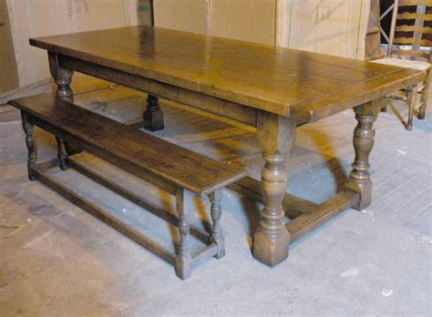 Dining Table With Bench by Oak Rustic Refectory Table Bench Dining Set