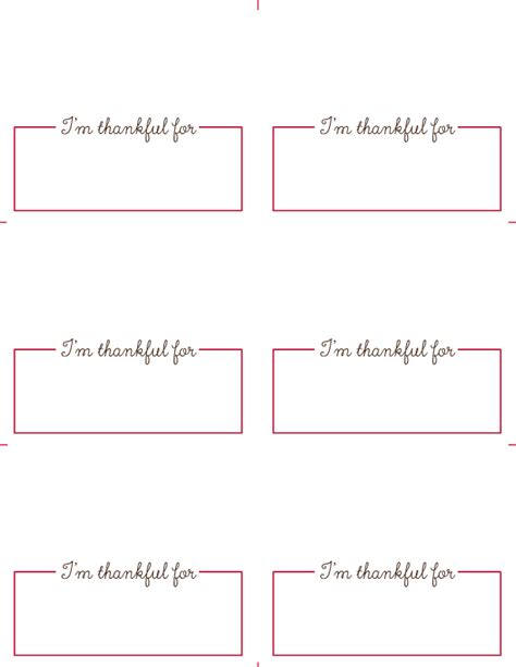 Place Card Template Free Thanksgiving Place Card Printables Roseville Designs