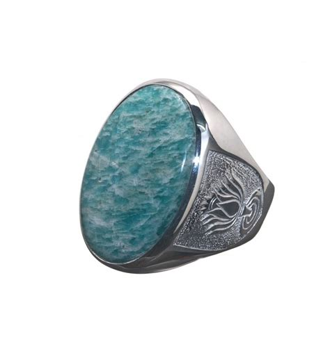 amazonite unique ring lotus shoulders sterling silver