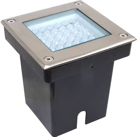in ground led light fixtures led 2 9w square ground light ip67 12v ac white toolstation