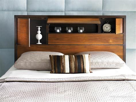 rangement chambre adulte tête de lit avec rangement gain de place et décoration