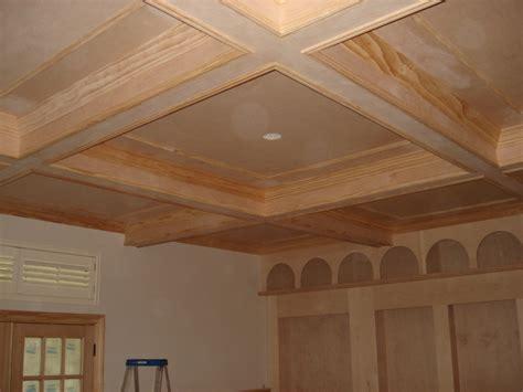 rustic wood trim david carpentry image portfolio coffered ceilings faux beams