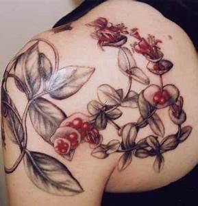 Honeysuckle on shoulder | Tattoo | Pinterest