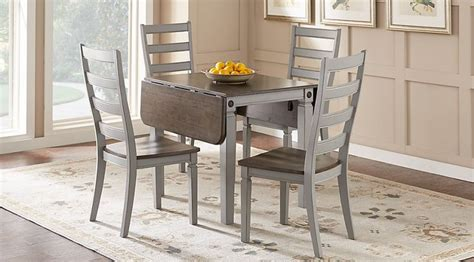 picture  velino gray  pc rectangle dining set