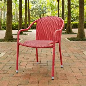 Crosley, Palm, Harbor, Outdoor, Wicker, Stackable, Chairs, Set, Of, 4, -, Walmart, Com