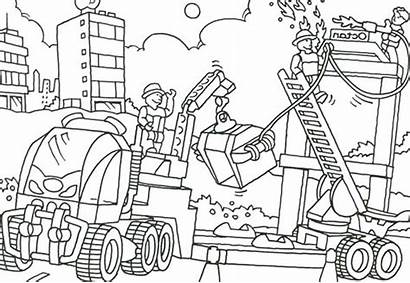 Construction Coloring Pages Site Vehicles Truck Printable