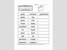 Compound Words EnchantedLearningcom